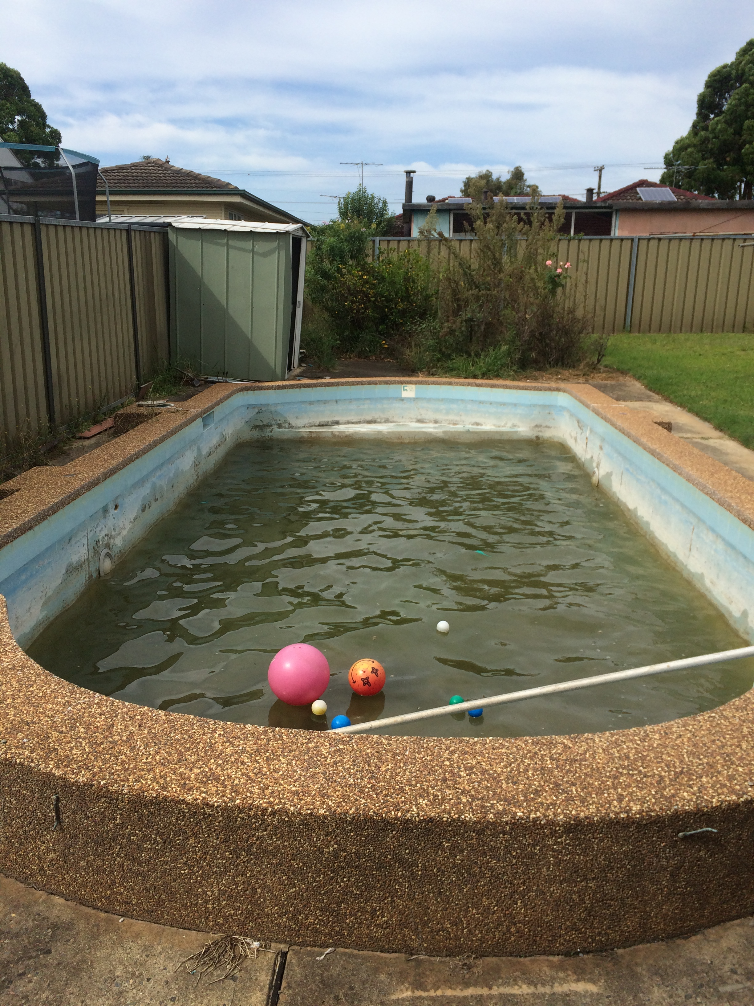 how to clean a neglected green swimming pool clean pools r us. Black Bedroom Furniture Sets. Home Design Ideas